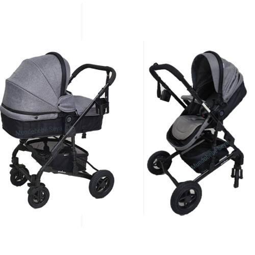 87482a1f3 Coche cuna moises para bebe niña y niño enduro babygo