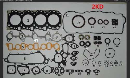 Empaque motor toyota hilux 2kd / 1kd moderno