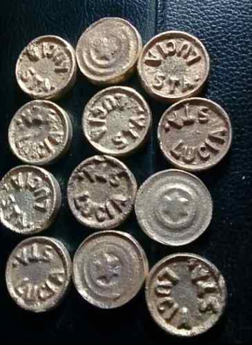 Monedas o fichas para sapo fulbito bronce envio a provincia