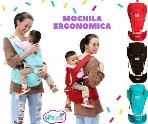 Porta bebé - mochila ergonomica 4 posiciones