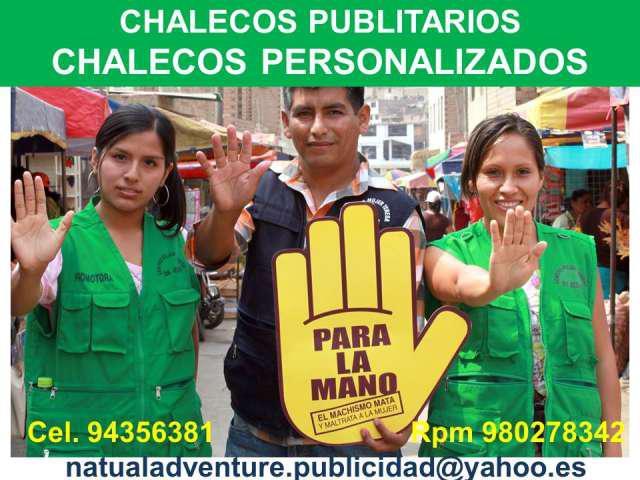 Chalecos publicitarios para empresas en chiclayo