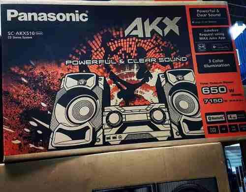 Equipo de sonido panasonic akx510 bluetooth 650w 4gb