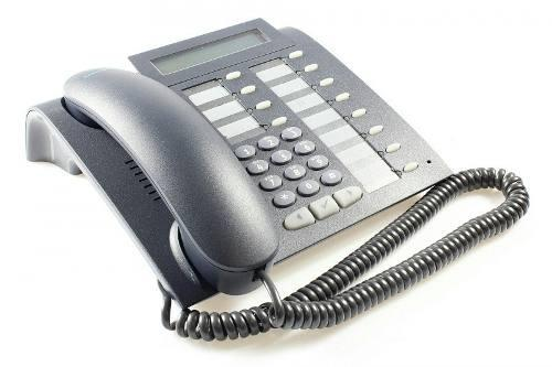 Teléfono digital siemens optipoint 500 negro y gris a s/120