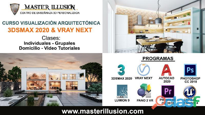 Curso 3dsmax 2020 y vray next para visualizacion arquitectonica / master illusion