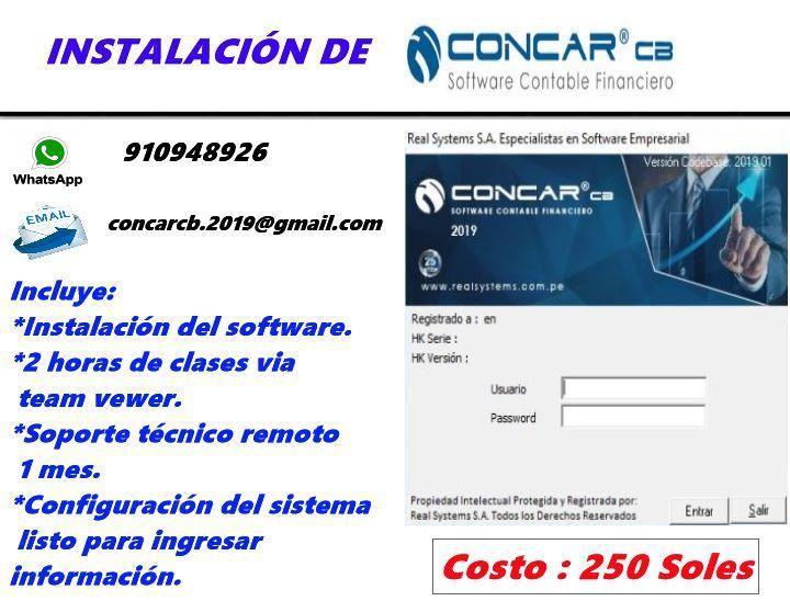 Instalacióm software contable-financiero CONCAR CB