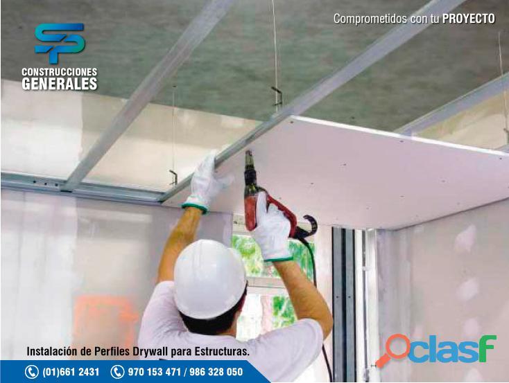 Construcción y remodelación de sistema drywall, instalación