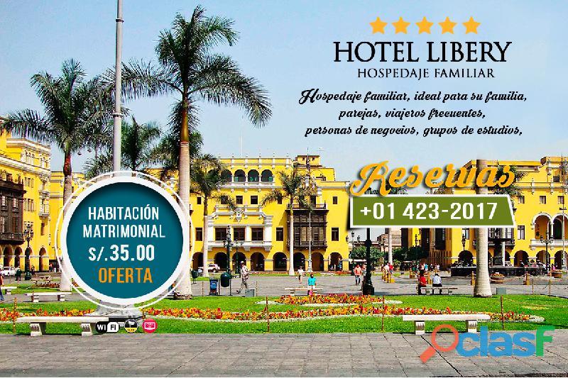 Hotel libery – alojamiento – en lima