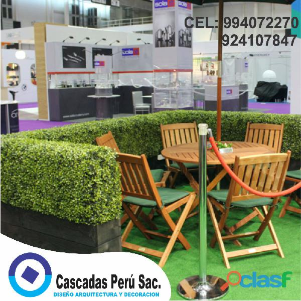 Modelos decorativos de jardin, plantas, cesped artificiales