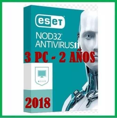 Antivirus eset nod32 para 3 pcs x 1 año