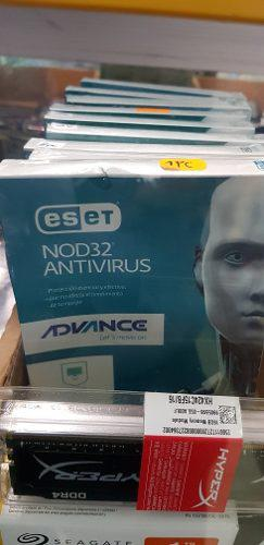 Antivirus nod32 eset 2019 3 pcs original lic 1 año. viene