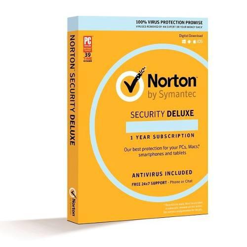 Antivirus norton security deluxe | para 5 pcs | por 1 año