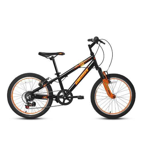 Bicicleta best de niño duke aro 20 gris/naranja