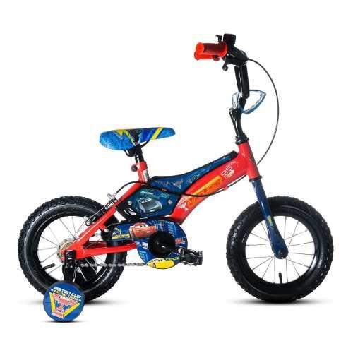 Bicicleta disney - cars niños con rueditas nueva en caja