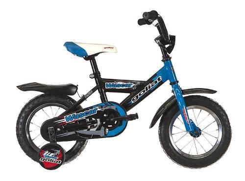 Bicicleta goliat para niño aro 12 - celeste/negro