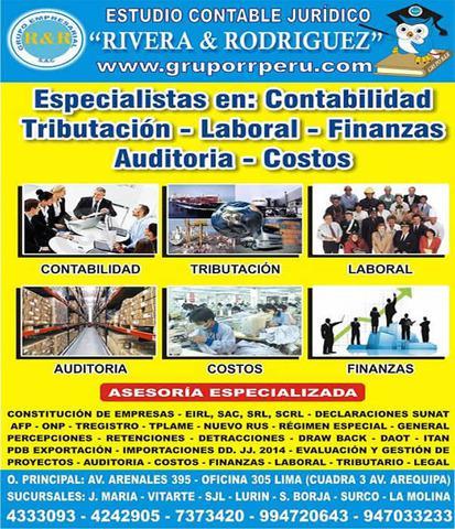 Constitucion de empresas, empresas de servicios, pachacamac