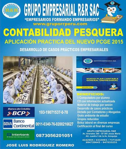 Contabilidad pesquera, contabilidad agropecuaria,