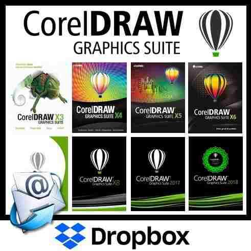 Corel draw x3 x4 x5 x6 x7 x8 x9 - 2018 - envio inmediato