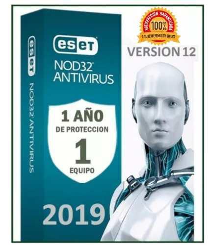 Eset nod32 antivirus 1 año una licencia original (1pc) 2019