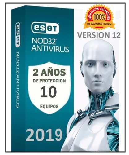 Eset nod32 antivirus 2 año una licencia original (10pc)