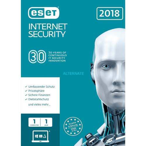 Eset nod32 internet security, edición 2018, 1 pc, en caja