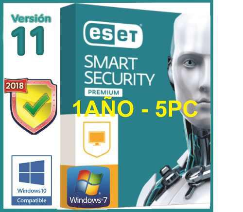 Eset smart security premium edicion 2019 original 5pc x