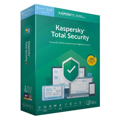 Kaspersky total security 2019 3 pc 1 año - multidispositivo