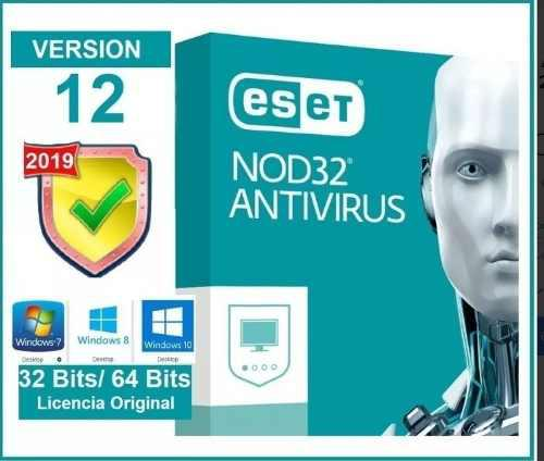 Licencia antivirus nod32 version 12 // 3pc x 2 anos original