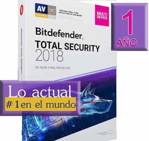 Licencia bitdefender total security 2018 5 pc 1 año