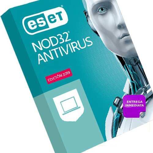 Licencia eset nod32 antivirus v12 2019 3 pc o movil x 2 año