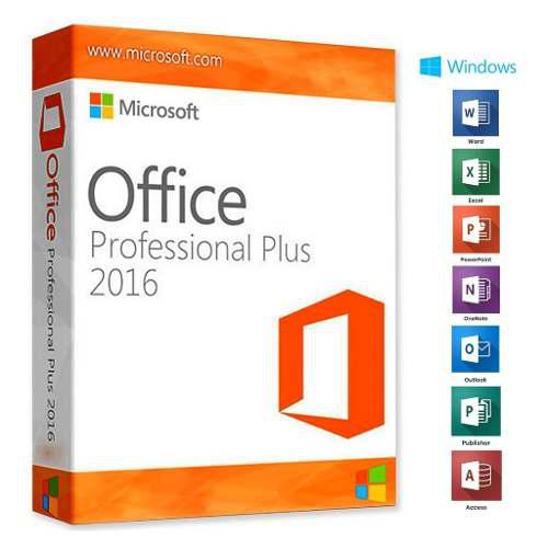 Licencia office 2016 pro plus para 1 pc windows