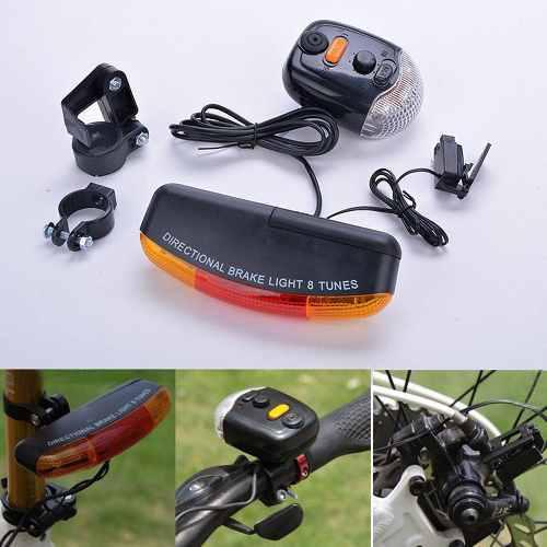 Luces bicicleta direccional+luz posicion y freno + bocina