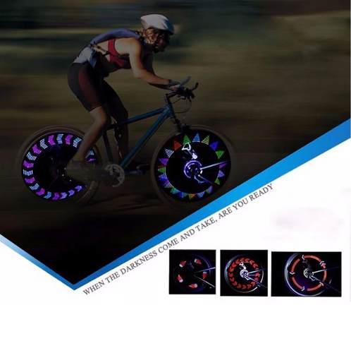 Luces para rayos de bicicleta 14 led 30 cambios