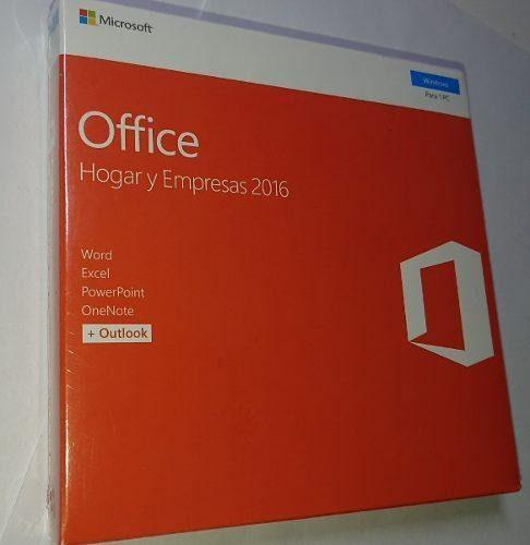 Microsoft office 2016 hogar y empresas retail fisico sellado