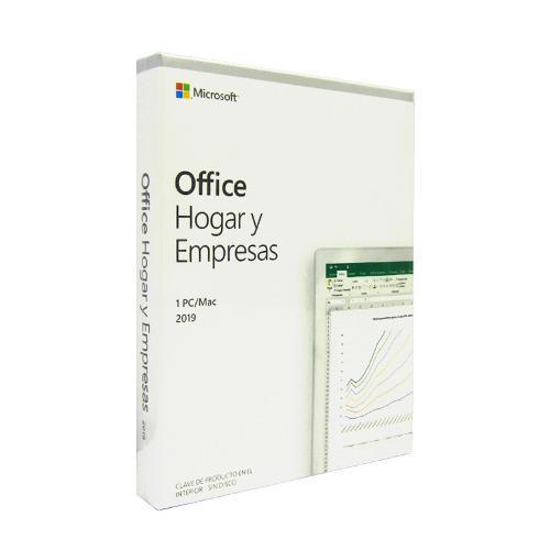 Microsoft office hogar y empresas 2019, 1 pc, español,