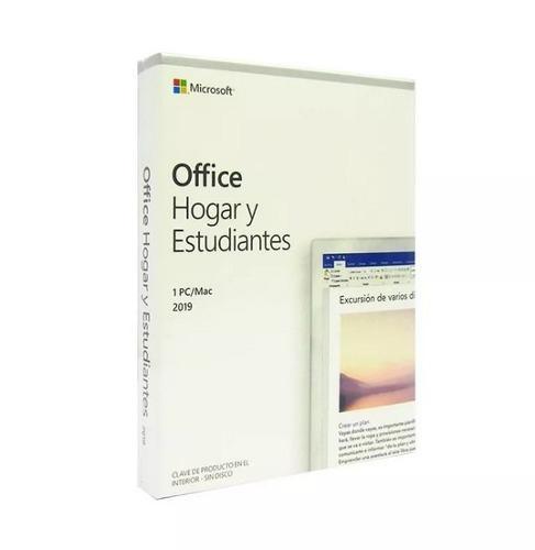 Office 2019 hogar y estudiantes 1 pc / mac español