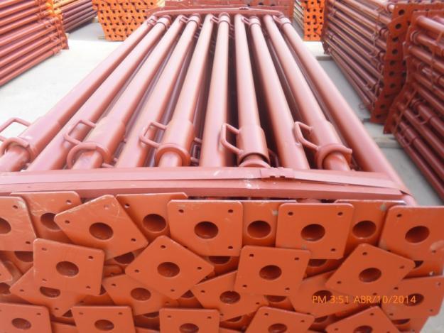 Puntales importados, fabricación europea.