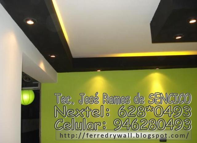 Sistemas drywall divisiones techos muebles