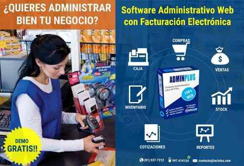 Software administrativo con facturación electrónica 100%