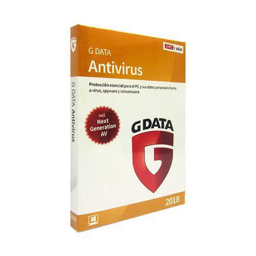 Software gdata anti-virus 2018, para 3 pcs, licencia 1 año.