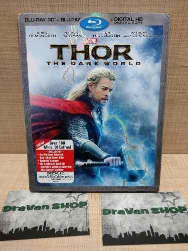 Thor the dark world blu ray pelicula slipcover 3d