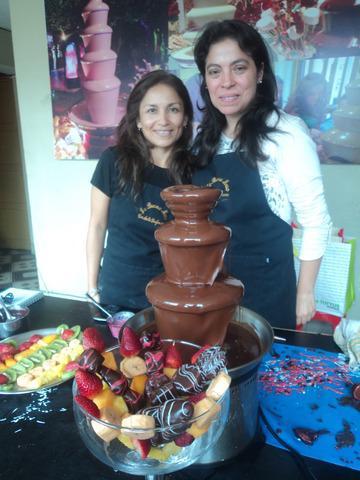 Venta y alquiler de piletas fuentes cascadas de chocolate en