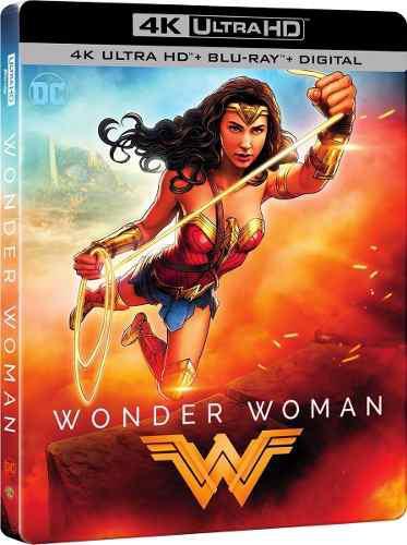 Wonder woman steelbook 4k + bluray (sellado, en stock)