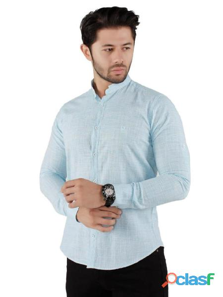 Camisa slim de turquia para hombres (moda europea), lima