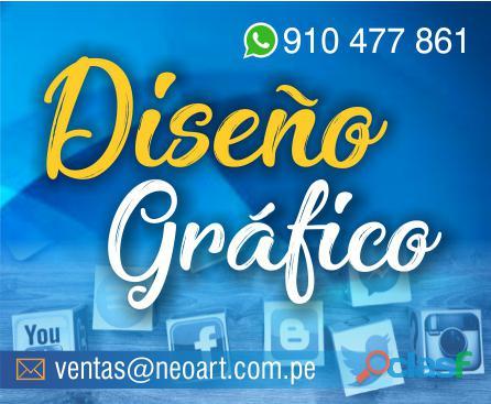 Diseño gráfico en lima .logotipos, redes sociales, piezas gráficas   whatsapp 910477861