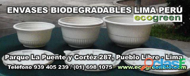 Ecogreenbio envases biodegradables lima peru pueblo libre venta por mayor