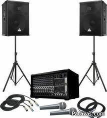 Alquiler de equipo de sonido profesional con luces para