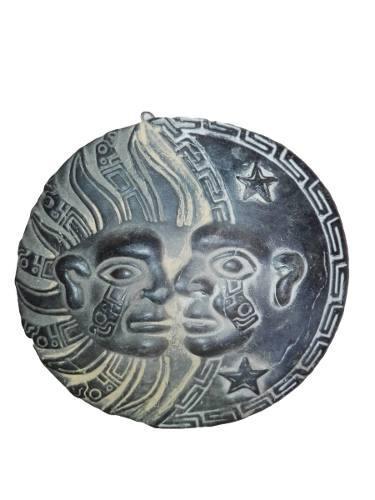 Adorno piedra luna y sol 10cm artesania souvenir regalo deco
