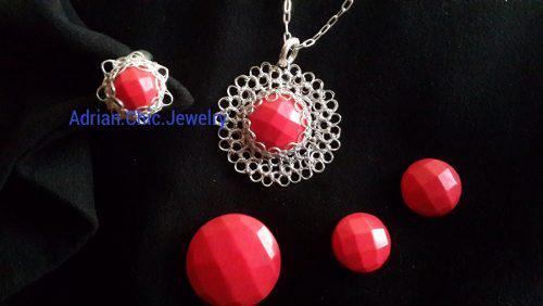 Artesania joyas de plata 999 tejido a crochet punto peruano