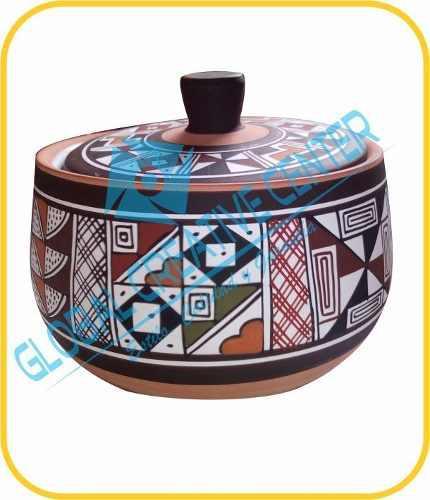 Azucarera de cerámica con loza por dentro