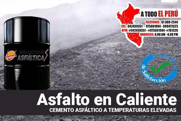 Calidad de mezcla asfaltica o asfalto en caliente puesto